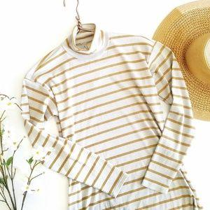 Anthropologie   Striped Turtleneck Tunic Shirt XS